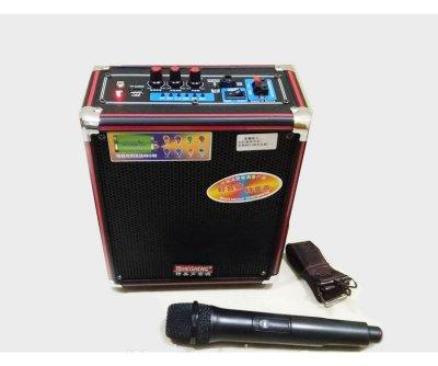 Акустичні системи автономні AFG Temeisheng Q50S, портативна мобільна колонка з радіомікрофоном, акустика, для дому, природи