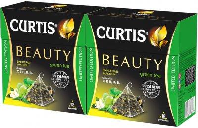 Упаковка чая Curtis BeautyGreenTea 18 пирамидок х 2 шт 64.8 г (2000000000053)