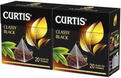 Упаковка чая классического черного Curtis Classy Black пакетированного 20 пирамидок х 2 шт 72 г (2000000000138)