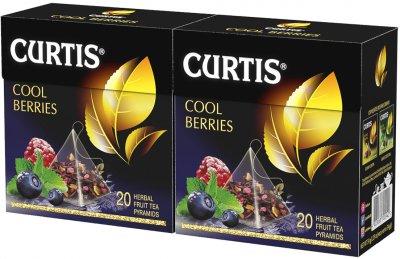 Упаковка чая фруктового Curtis Cool Berries пакетированного 20 пирамидок х 2 шт 68 г (2000000000176)