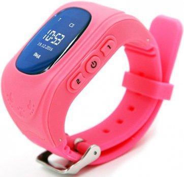 Дитячий телефон-годинник з GPS-трекером GOGPS ME K50 Pink (K50PK)