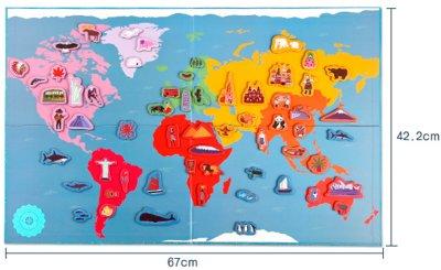 Магнітна мапа світу Mideer Hello World (MD1018)