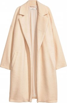 Пальто H&M 6160707 Белое