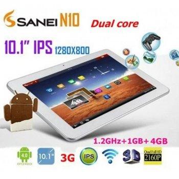 "Планшет 10,1"" Sanei N10+GPS+2G/3G 4Ядра +IPS"