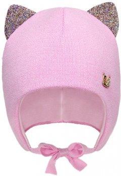 Зимняя шапка с завязками David's Star 2089 46 см Пудра (ROZ6400021911)