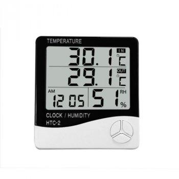Термометр гигрометр цифровой Ketontek НТС-2 с выносным датчиком (100095)
