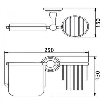 Тримач для туалетного паперу і освіжувача Lidz (CRM)-114.03.02