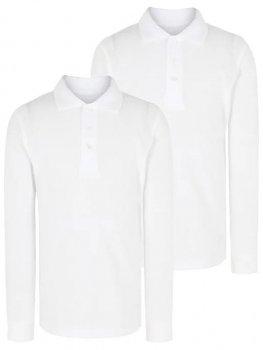 Набор поло для мальчика с длинным рукавом George белое 5057476