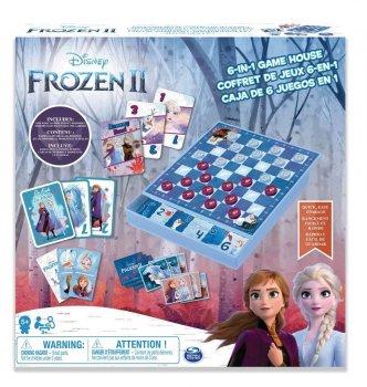 """Настільні ігри Spin Master Набір з 6 настільних ігор """"Холодне серце 2"""" (SM98478/6053753)"""