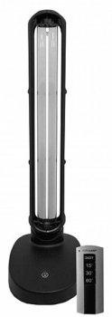 Бактерицидная настольная лампа EUROLAMP 38W безозоновая black