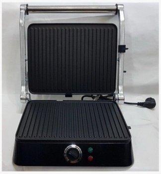 Гриль DSP KB-1001 електричний притискної з таймером 1400 Вт Чорний (11666)