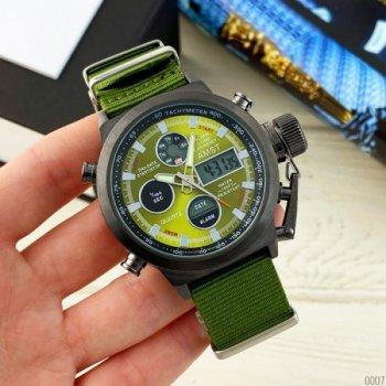 Наручные часы AMST C Black-Green Green Wristband