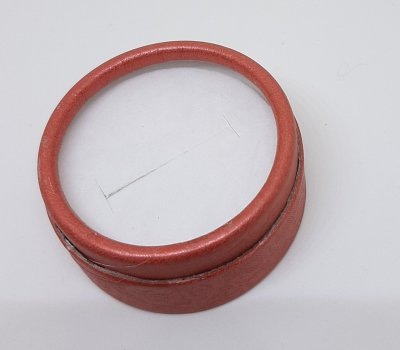 Коробочка для прикрас під кільце і сережки Червоний 10180 (2к)