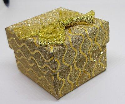 Коробочка для прикрас під кільце і сережки Золотий 10180 (4з)
