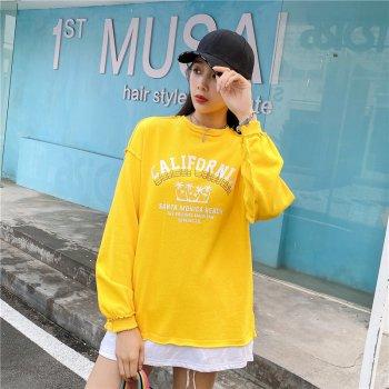 Свитшот женский California, желтый Berni Fashion Желтый