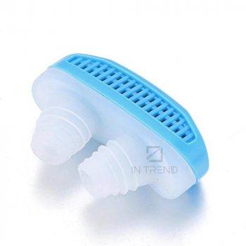 Антихрап SNORE CEASING клипса от храпа – прибор для улучшения качества сна – клапан для носа эффективно смягчает астму / расширяют дыхательные каналы / освобождает от насморка гейморита ринита – компактный и незаметный, Голубой
