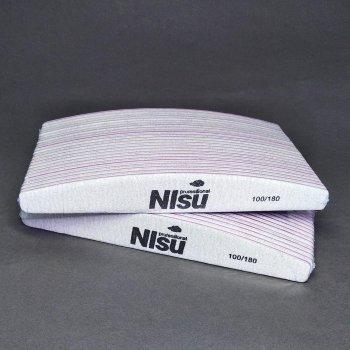 Пилки для нігтів 100/180 NIsu Professional 50 шт