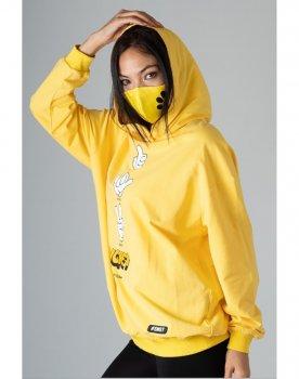 Свитшот Sonesta с капюшоном и маской для лица желтый (SN2701 yellow)