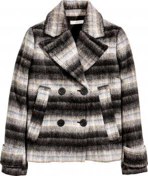 Пальто H&M 0397440-4 Комбинированное