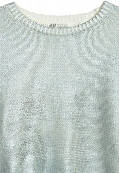 Джемпер H&M 05784317 Блакитний/Металік