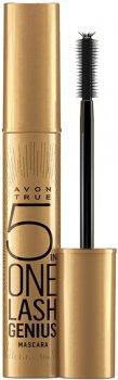 Многофункциональная тушь для ресниц Avon 5-в-1 True Черно-коричневая 10 мл (97759)(ROZ6400102373)