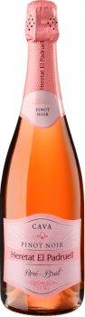 Вино ігристе Heretat el Padruell Cava Піно Нуар Розе рожеве брют 0.75 л 11% (8411277207429)