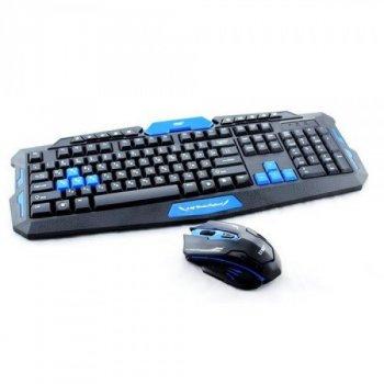 Професійна бездротова ігрова клавіатура + мишка у подарунок (56767)