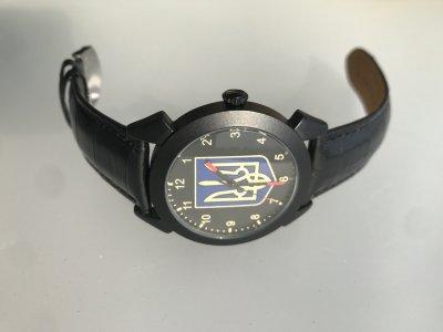 Часы мужские наручные герб Украины, национальная символика, тризуб, черный ремешок