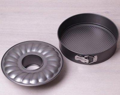 Форма для випічки Kamille Round Spring Ø24 см роз'ємна подвійна з антипригарним покриттям (KM-6021)