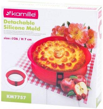 Форма для випічки Kamille Dalmatia Ø26 см роз'ємна з жароміцним скляним дном (KM-7757)