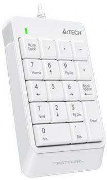 Клавіатура дротова A4Tech FK13P Fstyler Numeric Keypad White (4711421953450)