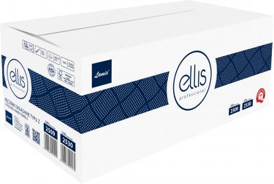 Паперові рушники Lamix Ellis Professional Z-складання 200 аркушів 2 шари 240x203 мм 15 пачок Білі (5900848002509)