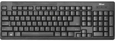 Комплект клавіатура + миша Trust Wireless Ziva UKR (22119) Black USB
