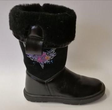 Зимние сапоги для девочки Bartek 717744 чёрные