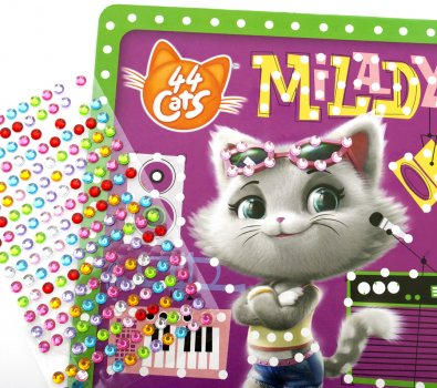 Набор для творчества Vladi Toys 44 Кота Магические кристаллы укр (VT4411-04)