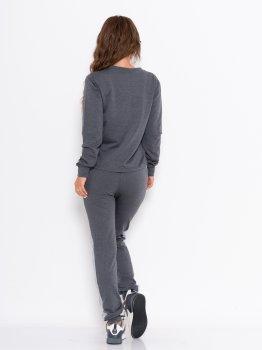 Спортивний костюм ISSA PLUS 10980 Сірий