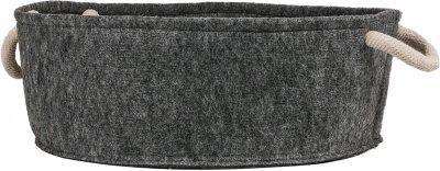 Лежак для котів і собак Форт Нокс FX Home з фетру з подушкою 48х48х17 см Сірий (2820000012968)