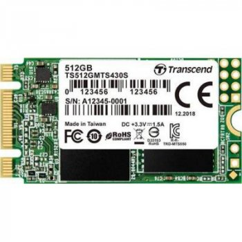 Накопитель SSD M.2 2242 512GB Transcend (TS512GMTS430S)