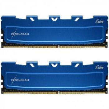 Модуль памяти для компьютера DDR4 16GB (2x8GB) 3000 MHz Blue Kudos eXceleram (EKBLUE4163021AD)