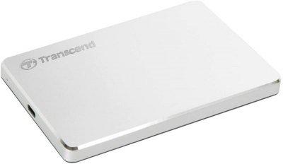 """Накопичувач зовнішній HDD 2.5"""" USB 2.0 TB Transcend StoreJet 25C3S Silver (TS2TSJ25C3S)"""