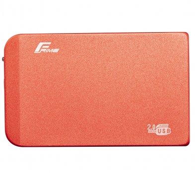 """Зовнішній кишеню Frime SATA HDD/SSD 2.5"""", USB 2.0, Metal, Red (FHE63.25U20)"""