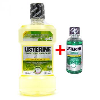 Ополаскиватель для рта Listerine Collutorio Protezione Anti-Carie 500мл + 95 мл Difensa e Gingive