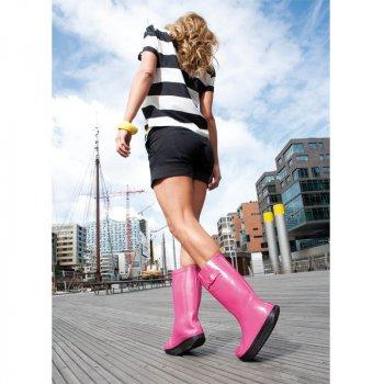 Женские резиновые сапоги Германия Walk Maxx розовые
