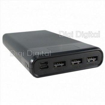 Зовнішній акумулятор Power Bank Hoco B35E 30000 mAh 3 usb 2А Led Дисплей Чеорный