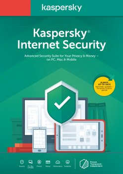 Kaspersky Internet Security Multi-Device 2020, перше встановлення на 1 рік для 1 ПК (ел. ключ у конверті)