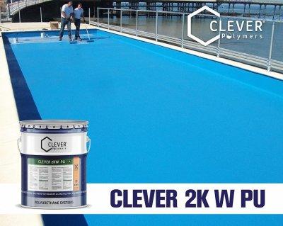 Поліуретанова гідроізоляція для резервуарів з водою Clever Polymers 2KW PU (6 кг)