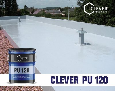 Однокомпонентна поліуретанова гідроізоляція Clever Polymers PU BASE 120 сіра 5 кг.
