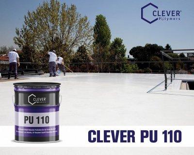 Однокомпонентна поліуретанова гідроізоляція Clever Polymers PU BASE 110 сіра 5 кг.