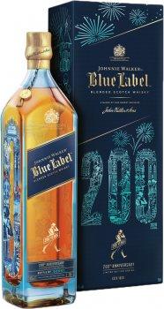 Виски Johnnie Walker Blue label выдержка 25 лет 0.7 л 40% в подарочной упаковке 200 years LIMITED EDITION (5000267182018)