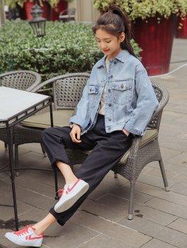 Куртка жіноча джинсова в стилі oversize Skyline Berni Fashion Блакитний (55408)